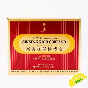 GINSENG ROJO COREANO 100 CAPS