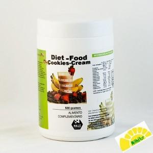 DIET FOOD COOKIES CREAM 500GRS