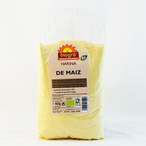 HARINA DE MAIZ BIOGRA 500 GR*