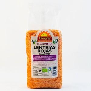 LENTEJAS ROJAS BIOGRA 500 GR