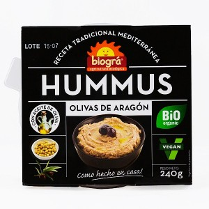 HUMMUS OLIVAS ARAGON 240 GRS*